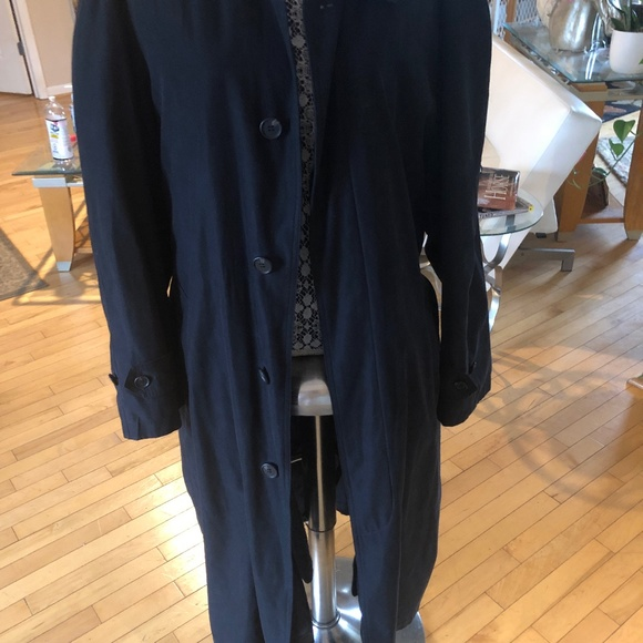 Mens Black trench coat from Stafford